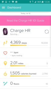 FitBit Initial Screen Android