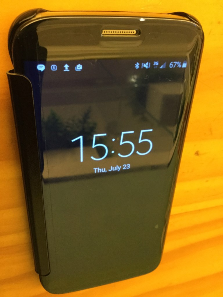 Samsung Clear View Cover for Samsung Galaxy S6 Edge Clock View