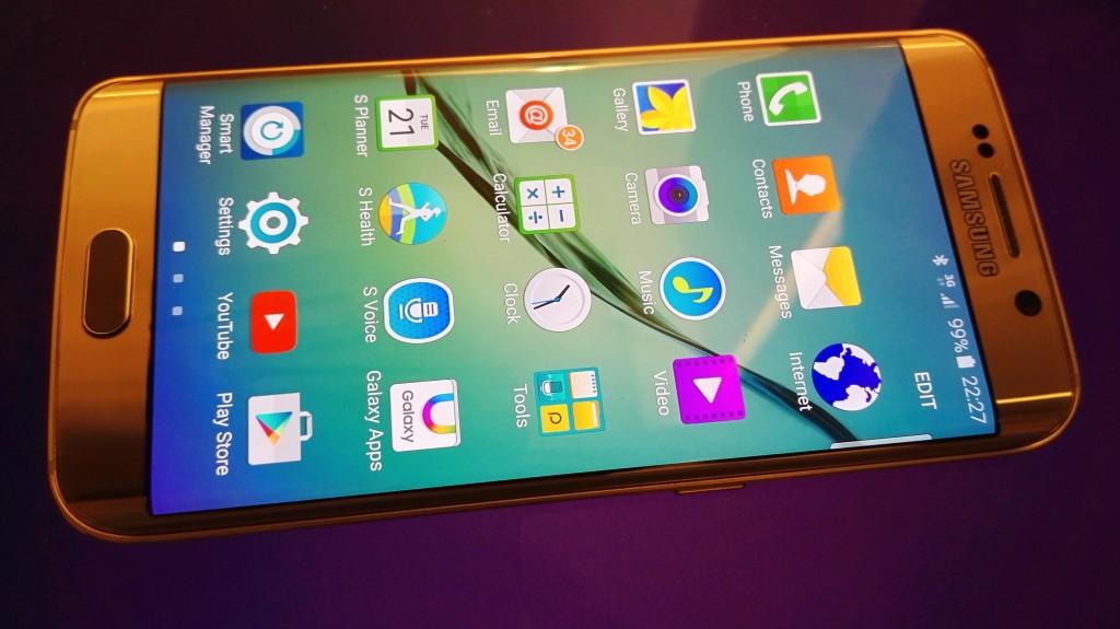Samsung Galaxy S6 Edge Main Application Screen