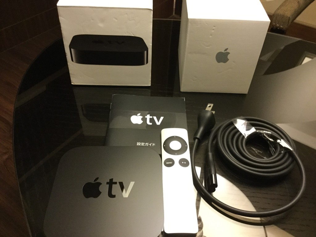 Apple TV Box Contents