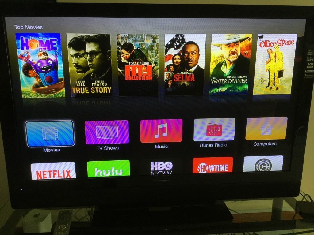 Apple TV iTunes in Singapore shows US iTunes