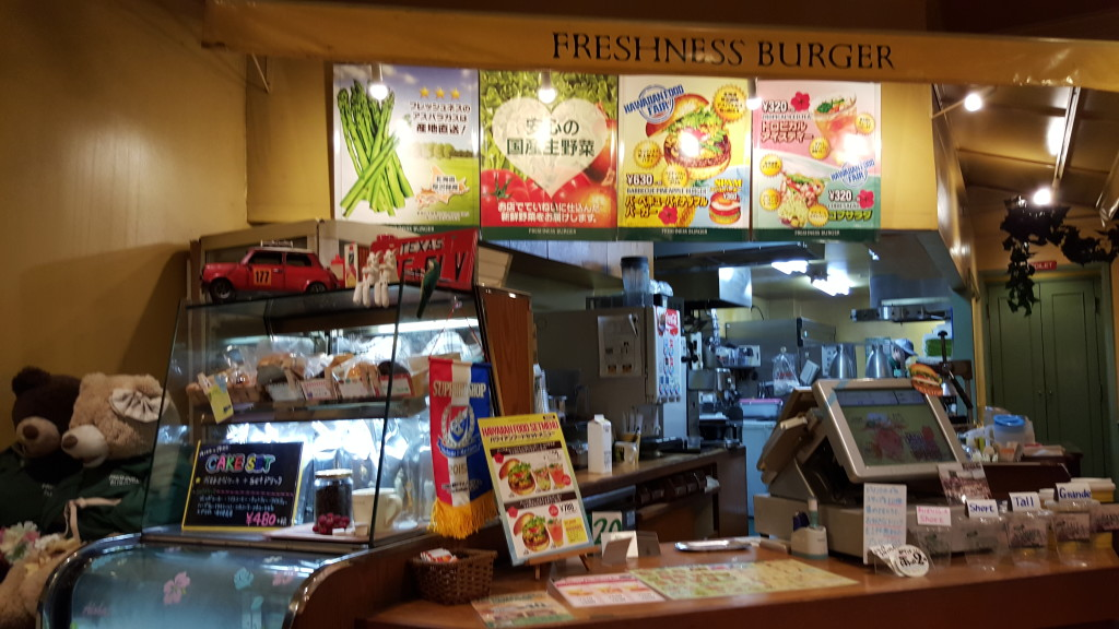 Freshness Burger Japan Shin Yokohama inside shot