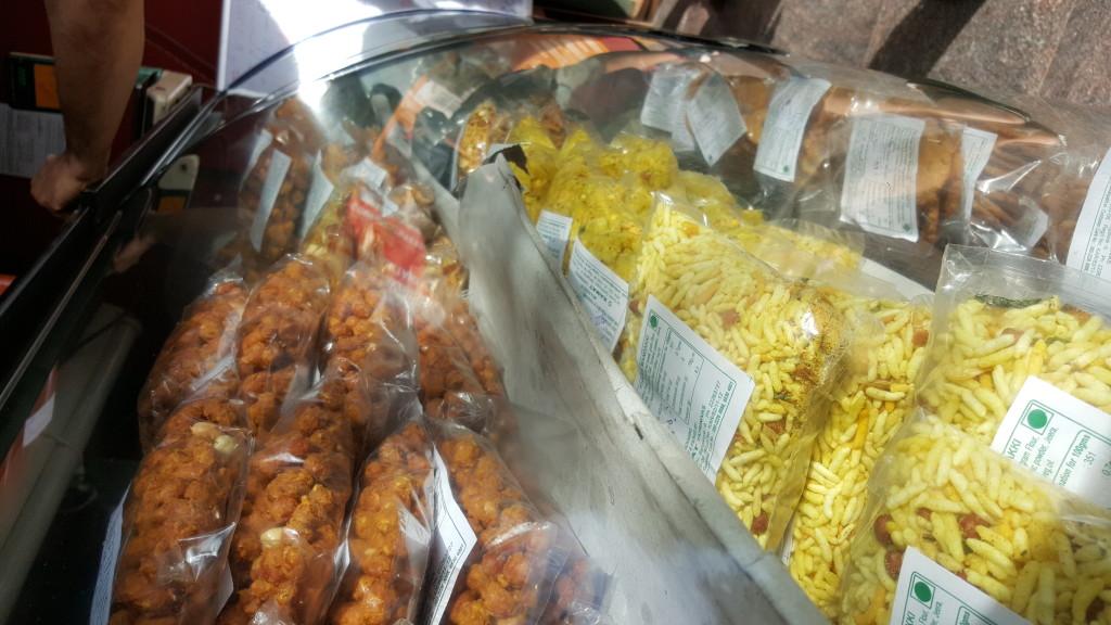India snacks at restaurant between Mysore and Bangalore