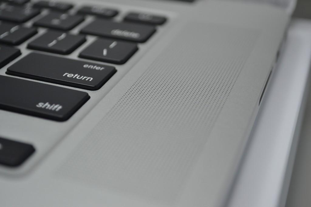 MacBook Pro FR speaker closeup