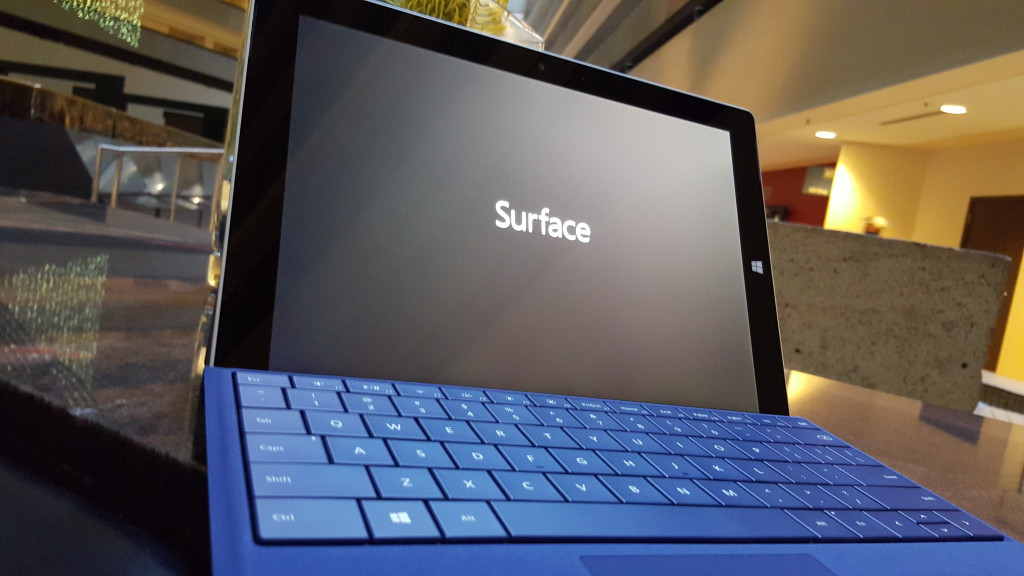 Microsoft Surface 3 with Type Cover at Hyatt Regency San Francisco California setup-1