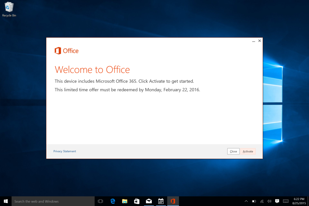 Microsoft Surface Win 10 E-Mail Calendar and Office Setup-10