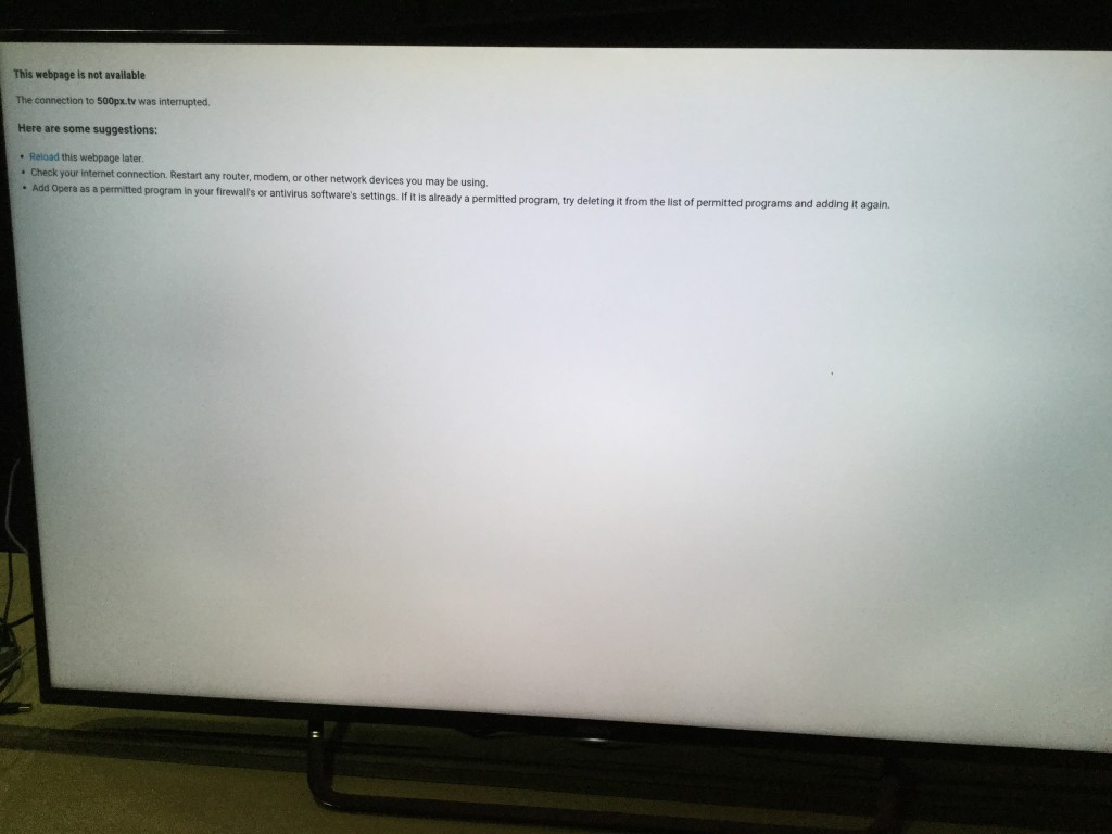 Sony 4K TV installing Android app error