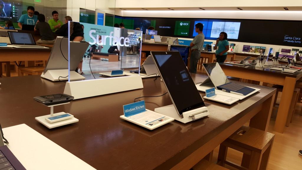 Surface Display at Windows Store West Valley Fair Mall Santa Clara California