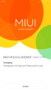 Xiaomi Mi Note Pro First Update Screen 1