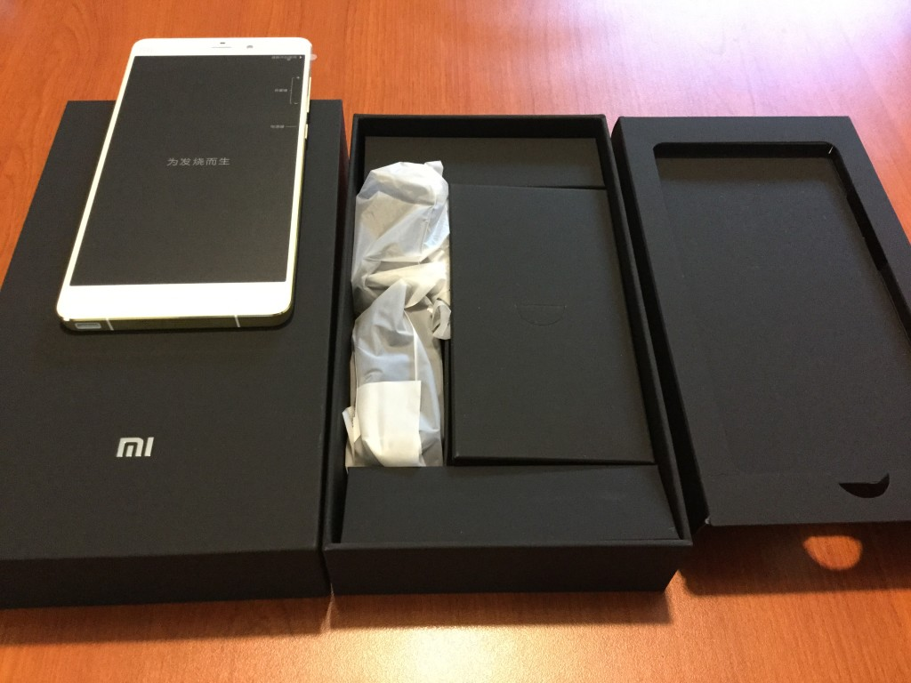 Xiaomi Mi Note Pro unboxing with accessories in box