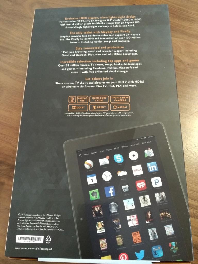Amazon Kindle Fire HDX89 Bottom Shot at Vitality Bowl San Ramon California