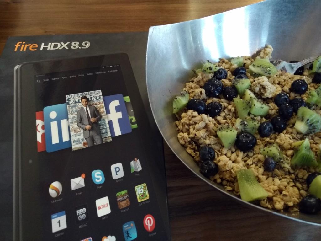 Amazon Kindle HDX 89 iwith Energy Bowl at Vitality Bowl San Ramon California