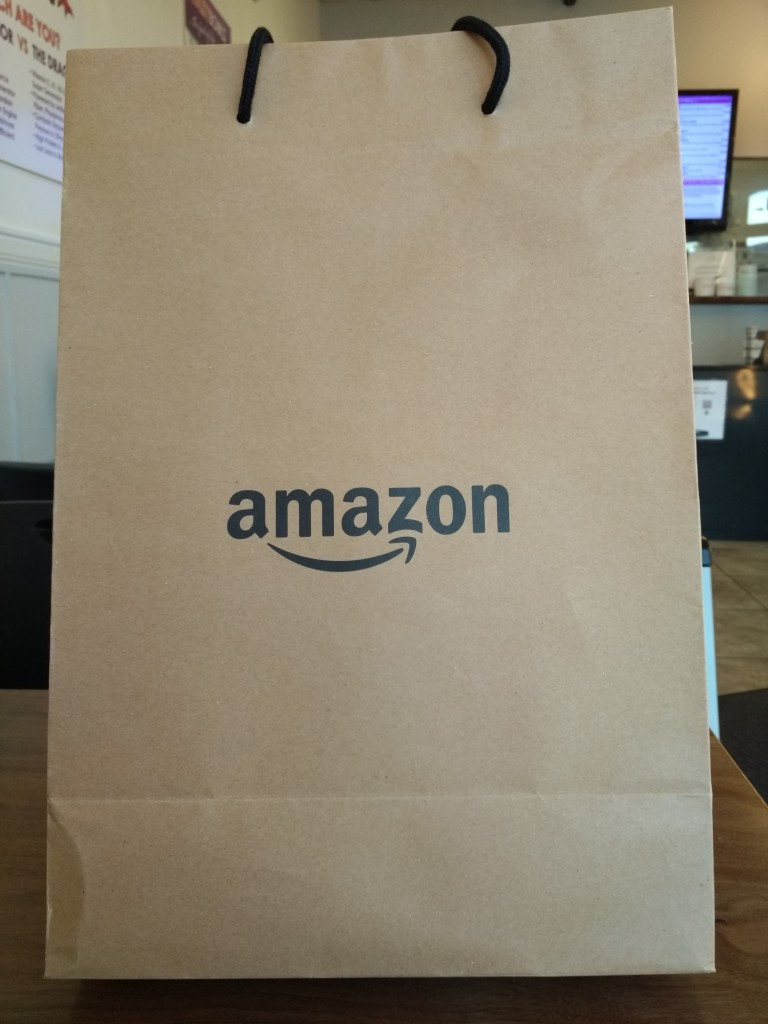 Amazon Store Bag front shot at Vitality Bowl San Ramon California