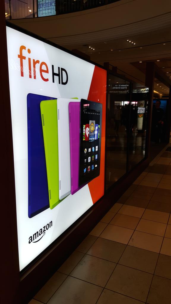 Amazon store in Westfield Mall San Francisco California- side macro shot