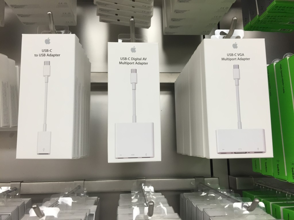 Apple Type C Adapters at Apple Store Westfield Valley Fair Mail Santa Clara California