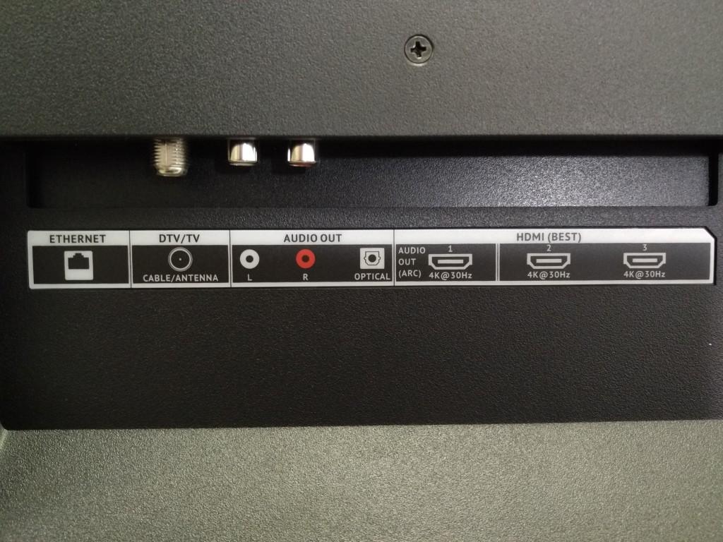 Vizio M-Series 4K Ultra HD Smart TV Box Back Interfaces