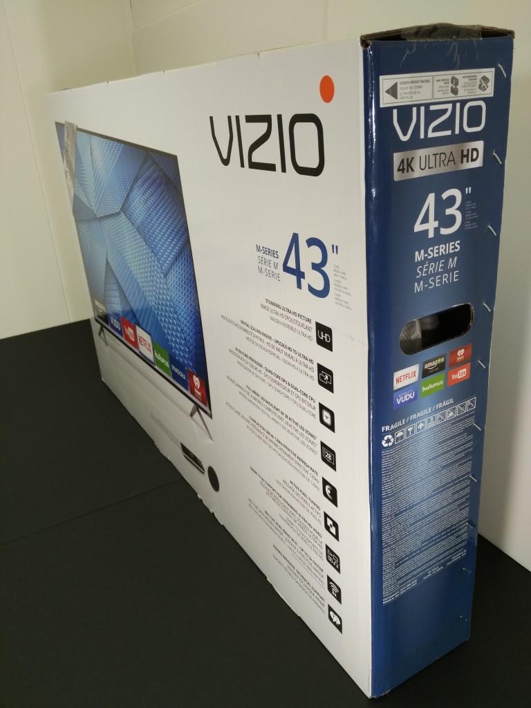 Vizio M-Series 4K Ultra HD Smart TV Box Corner Shot