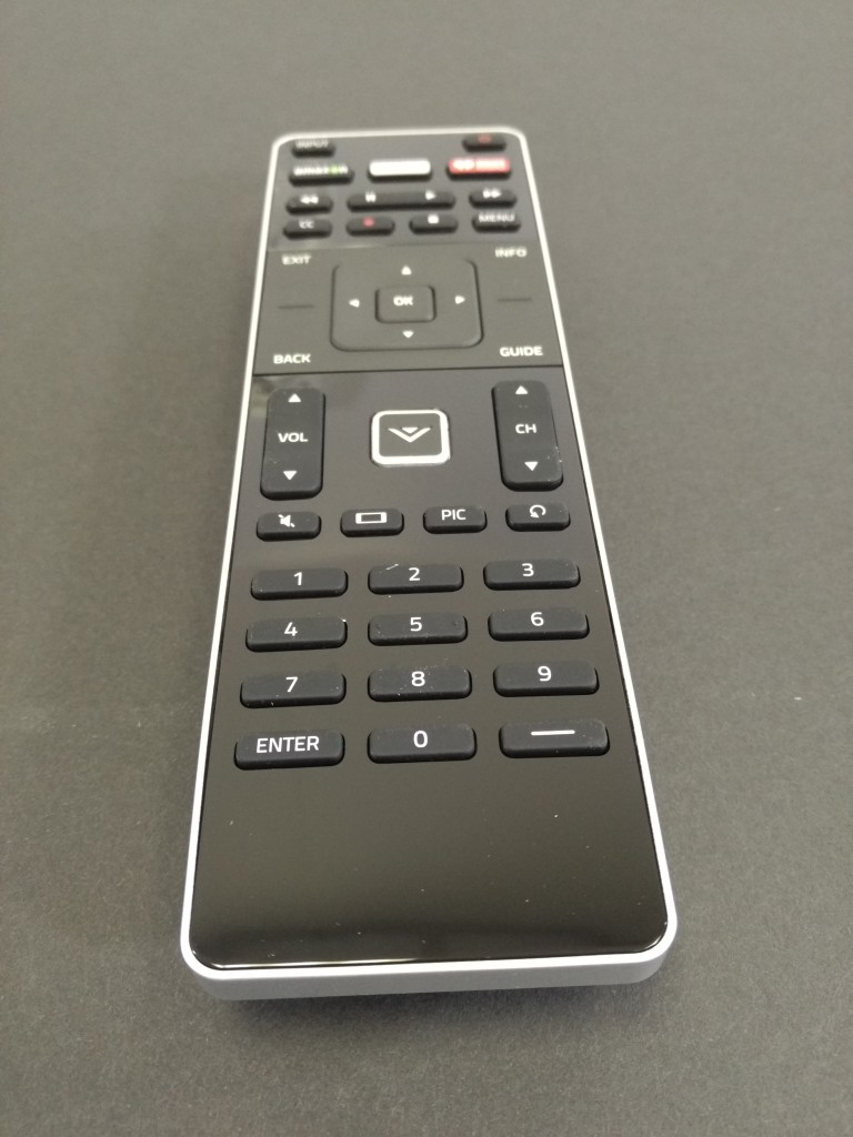 Vizio M-Series 4K Ultra HD Smart TV Box Remote Front