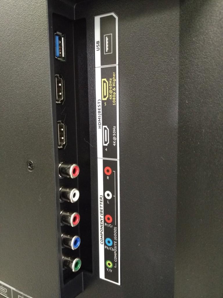 Vizio M-Series 4K Ultra HD Smart TV Box Side Interfaces