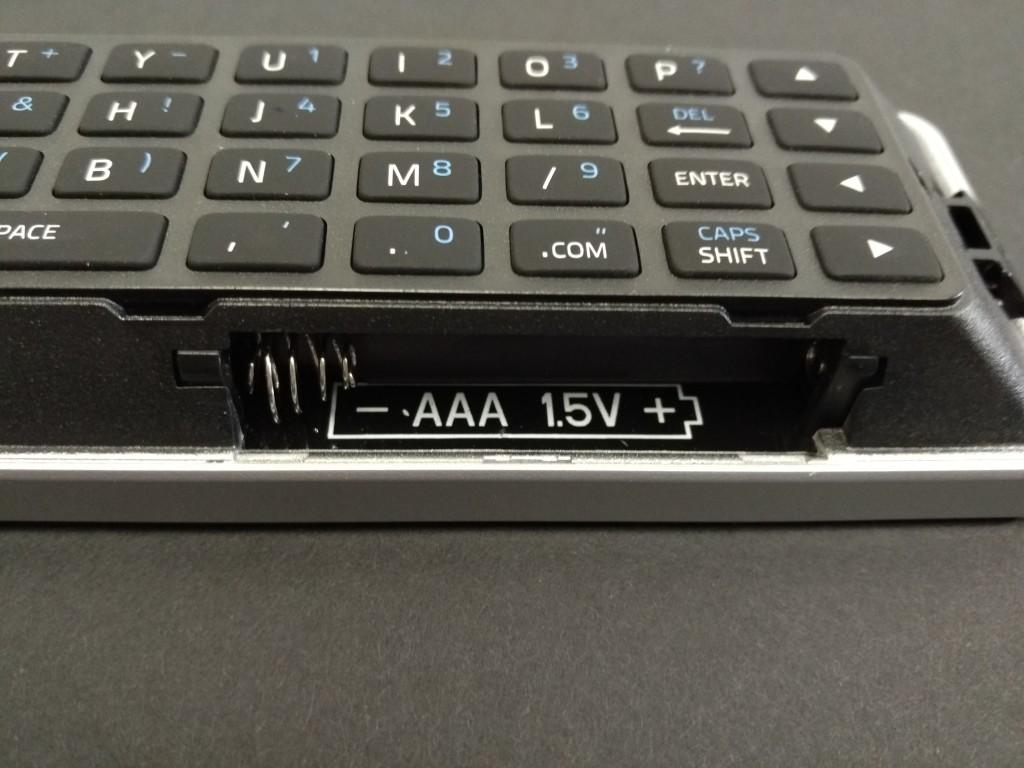 Vizio M-Series 4K Ultra HD Smart TV Remote Battery Placement Macro Shot
