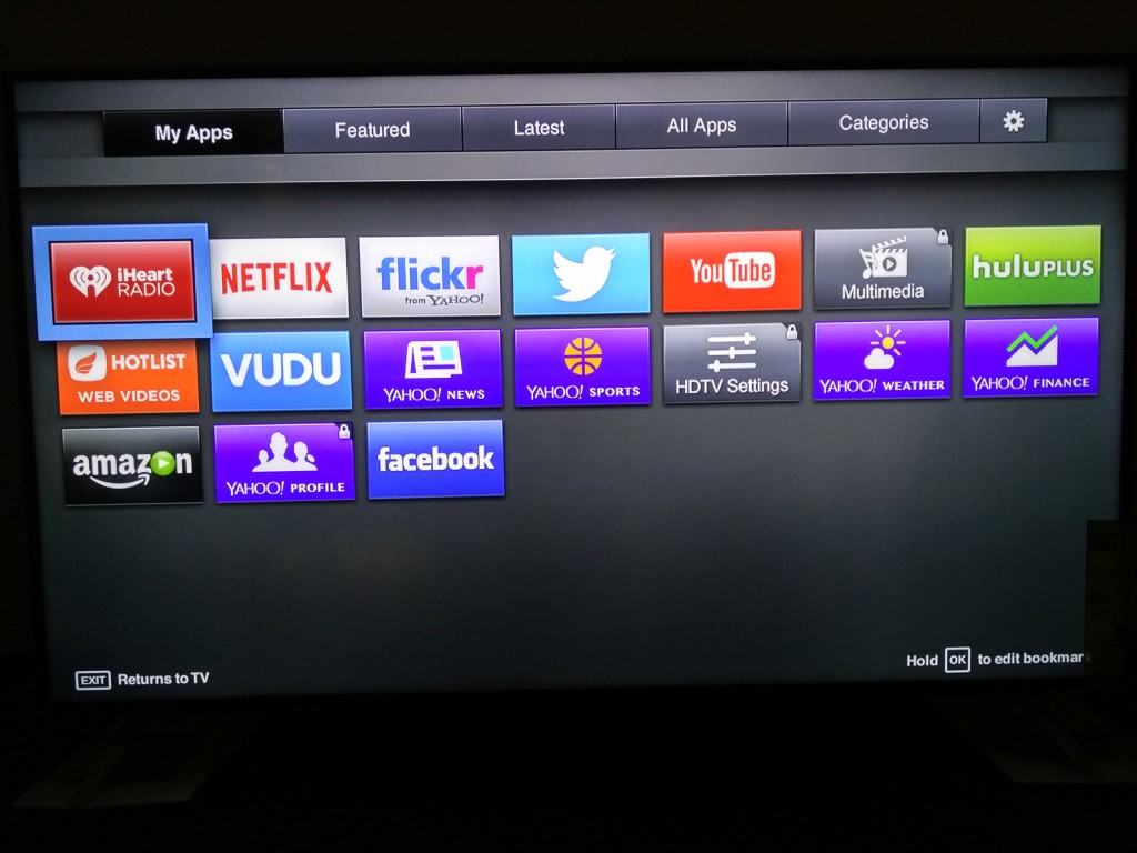Vizio M-Series 4K Ultra HD Smart TV Startup-Apps