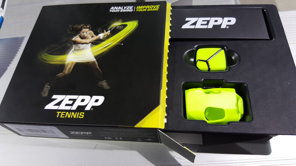 Zepp Tennis Box on Babolat Pure Drive Lite in San Ramon California- Unboxing1