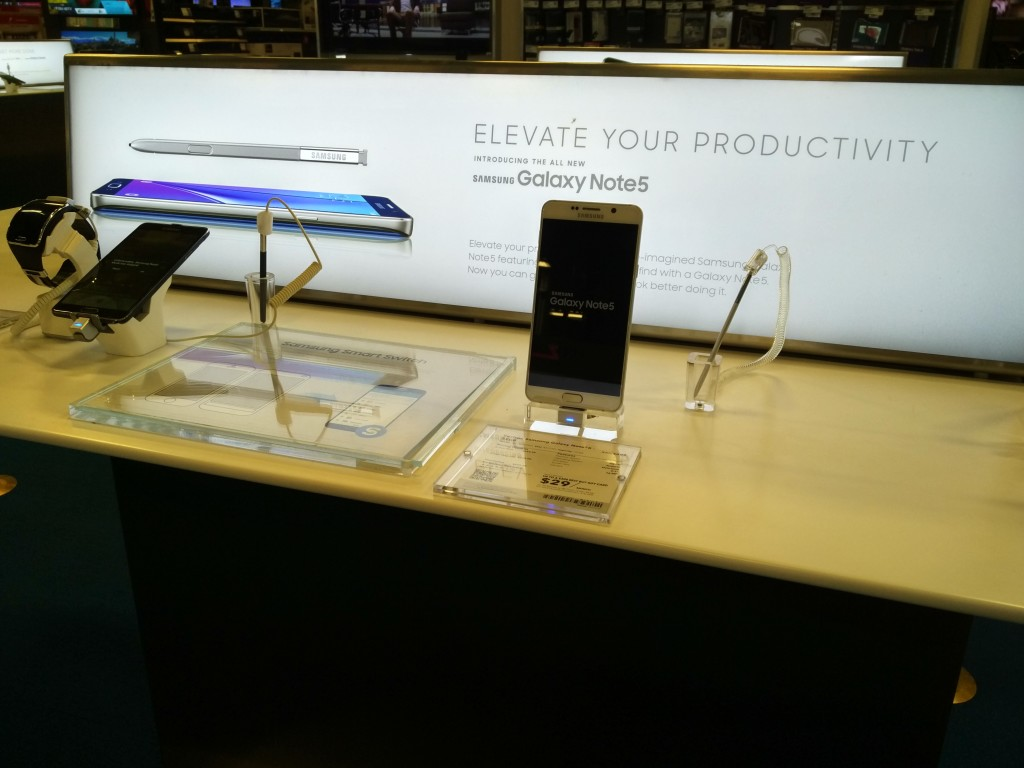 Best Buy Almaden Expressway San Jose-4 Samsung Galaxy Note Display