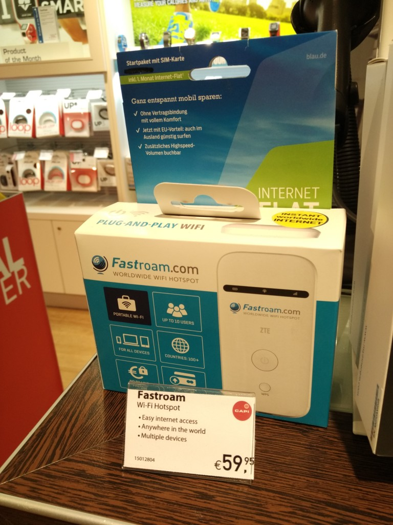 FastRoam ZTE 3G WIFI Router at The Travellers Electronics Company at Berlin TXL Airport-2