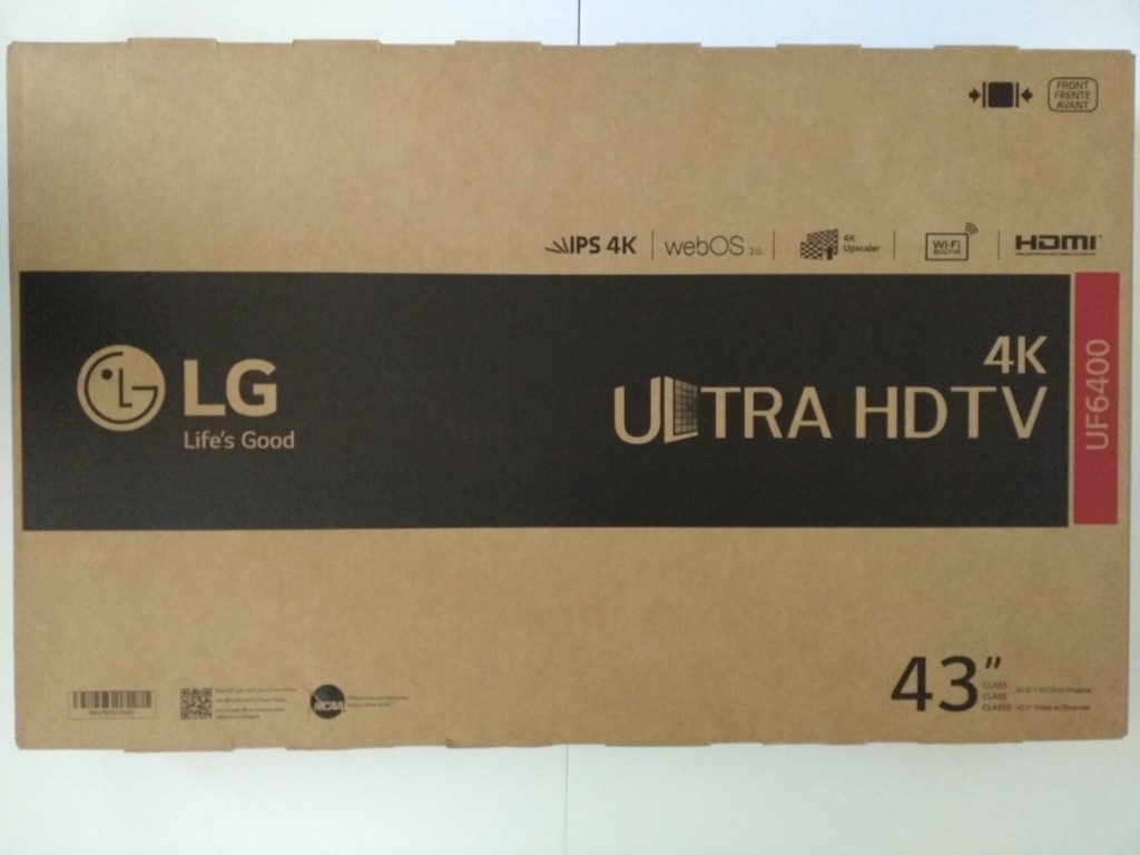 LG 43UF6400 43-Inch 4K Ultra HD Smart LED TV Unboxing and Setup-1