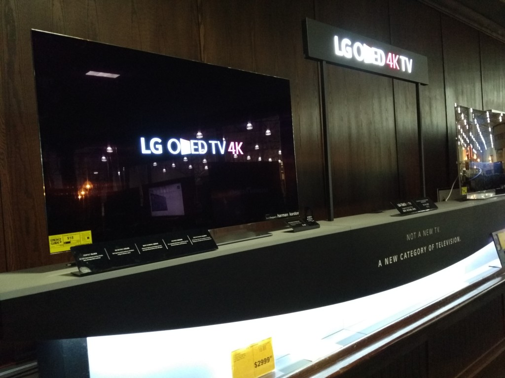 LG 4K Smart TV Display at Fry's Electronics Fremont California-2