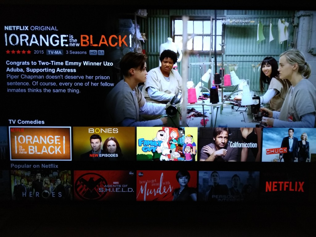 NetFlix on Sony 4K Ultra HD Media Player-2
