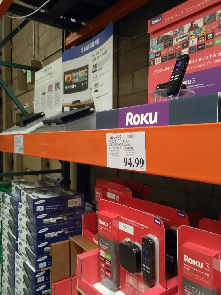 Roku 3 Sony and Samsung competition at Costco Danville California-1