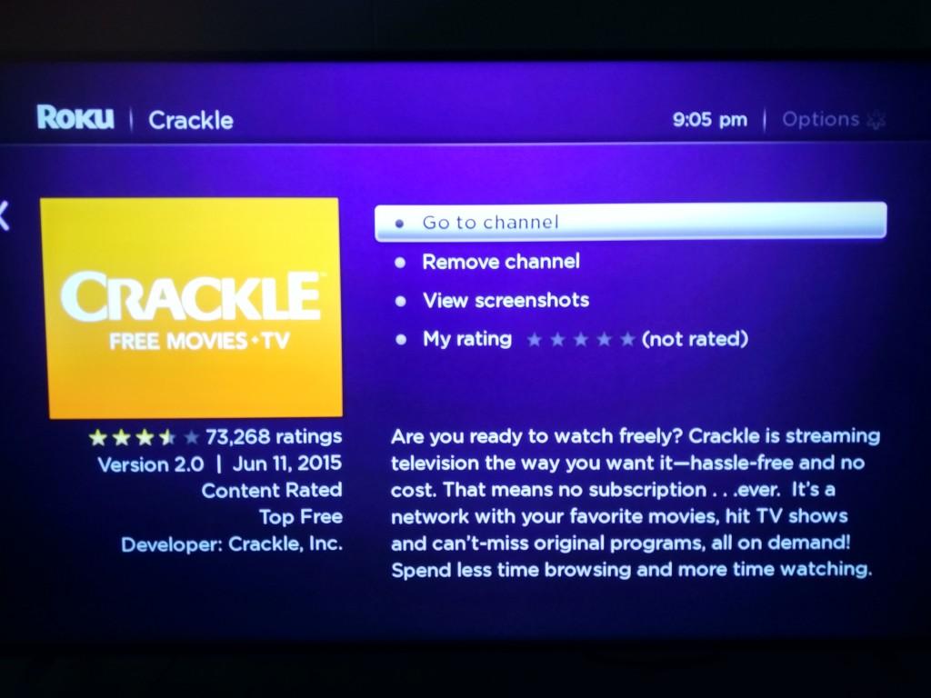 Roku 3 on Vizio M-Series 4K Ultra HD Smart TV Setup-24 Crackle