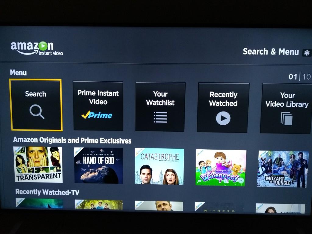 Roku 3 on Vizio M-Series 4K Ultra HD Smart TV Setup-30 Amazon Prime