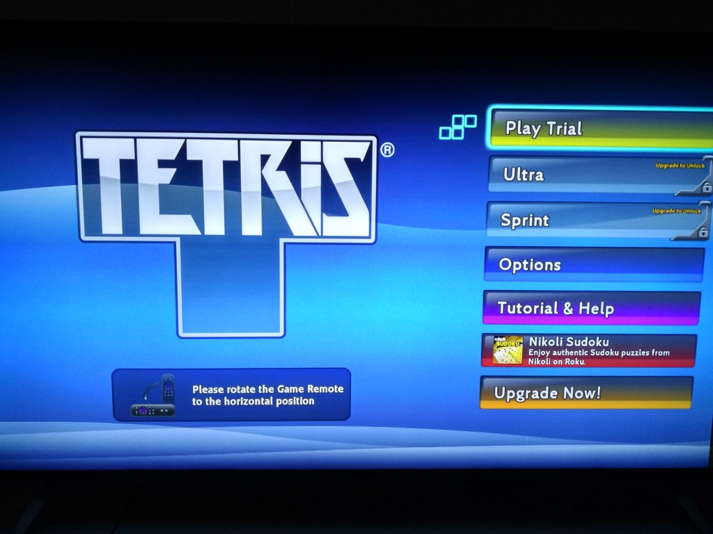 Roku 3 on Vizio M-Series 4K Ultra HD Smart TV Setup-30 Tetris Game
