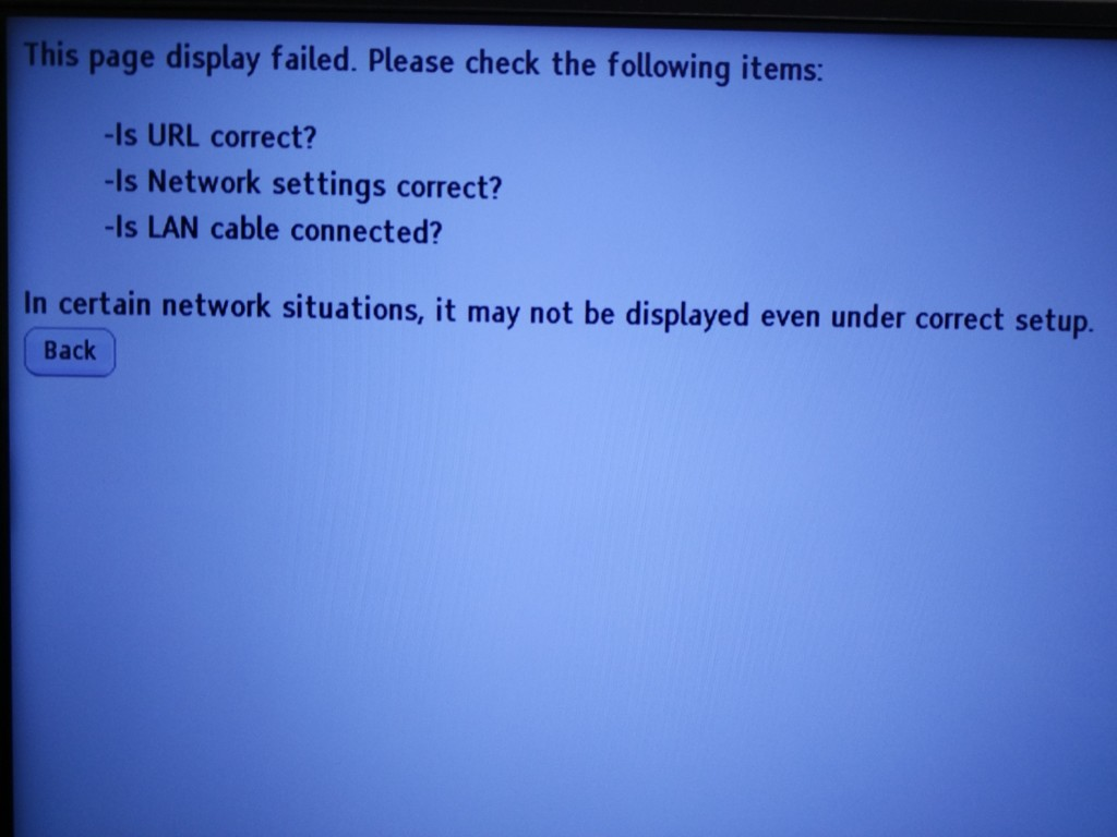 Sony 4K Ultra HD Media Player-error