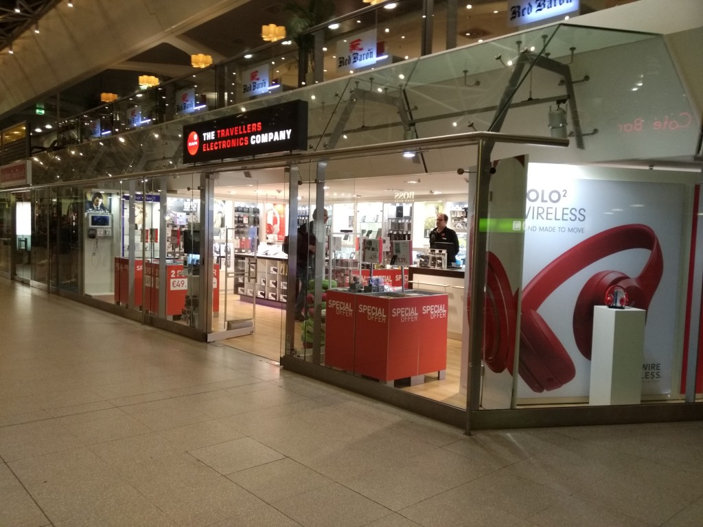The Travellers Electronics Company at Berlin TXL Airport Front shot