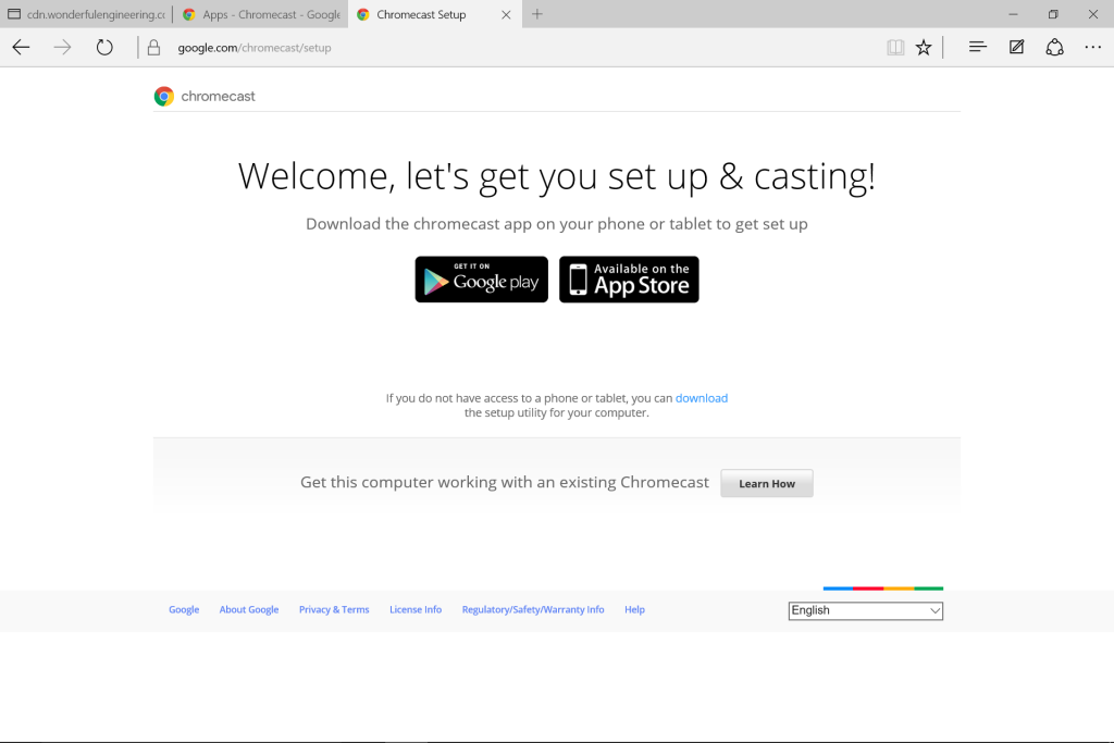 how to connect to chromecast from samsung tablet