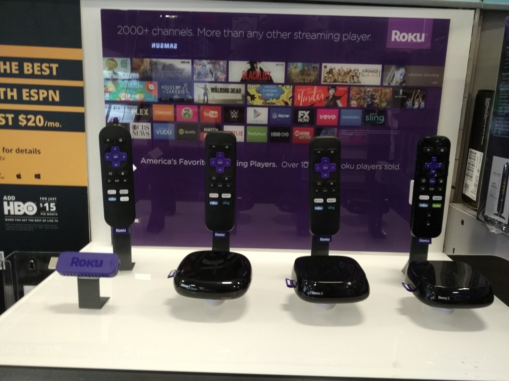 Roku display at Best Buy Dublin California
