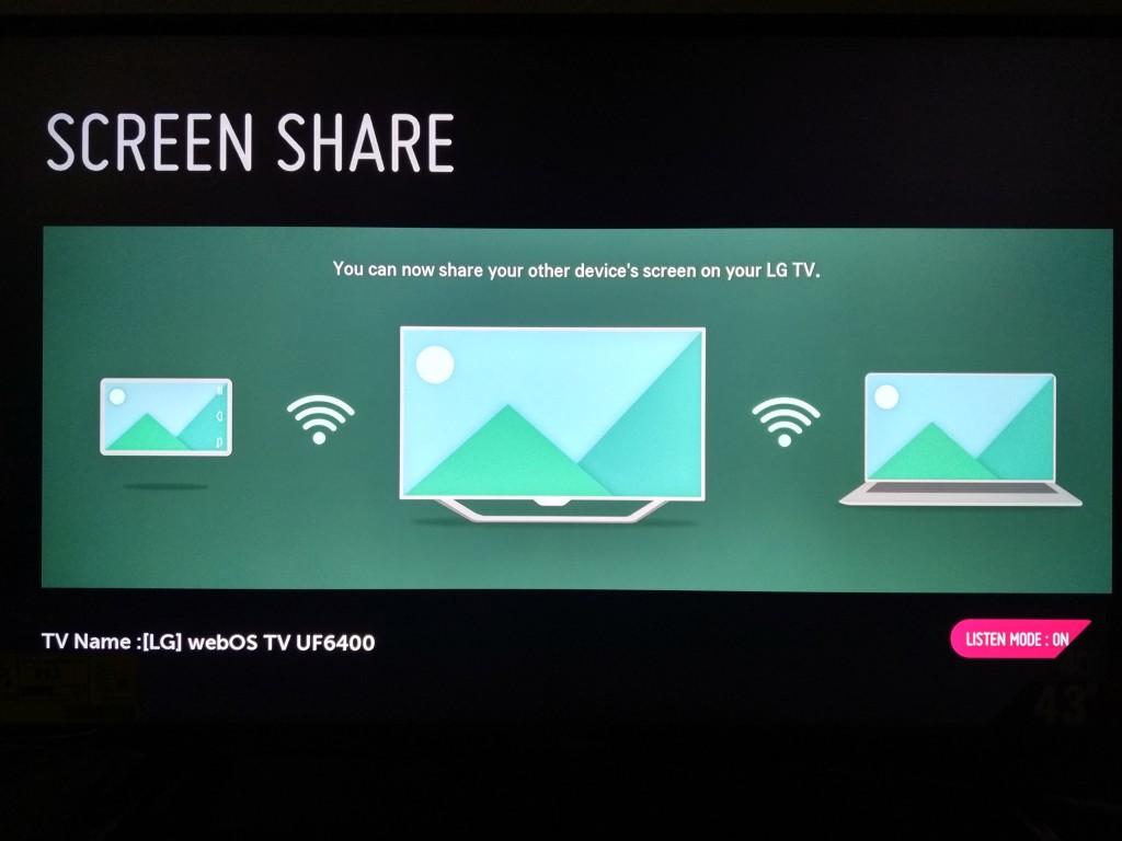 Lg tv screen share iphone