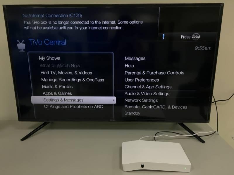 Box tivo setup with cable TiVo EDGE