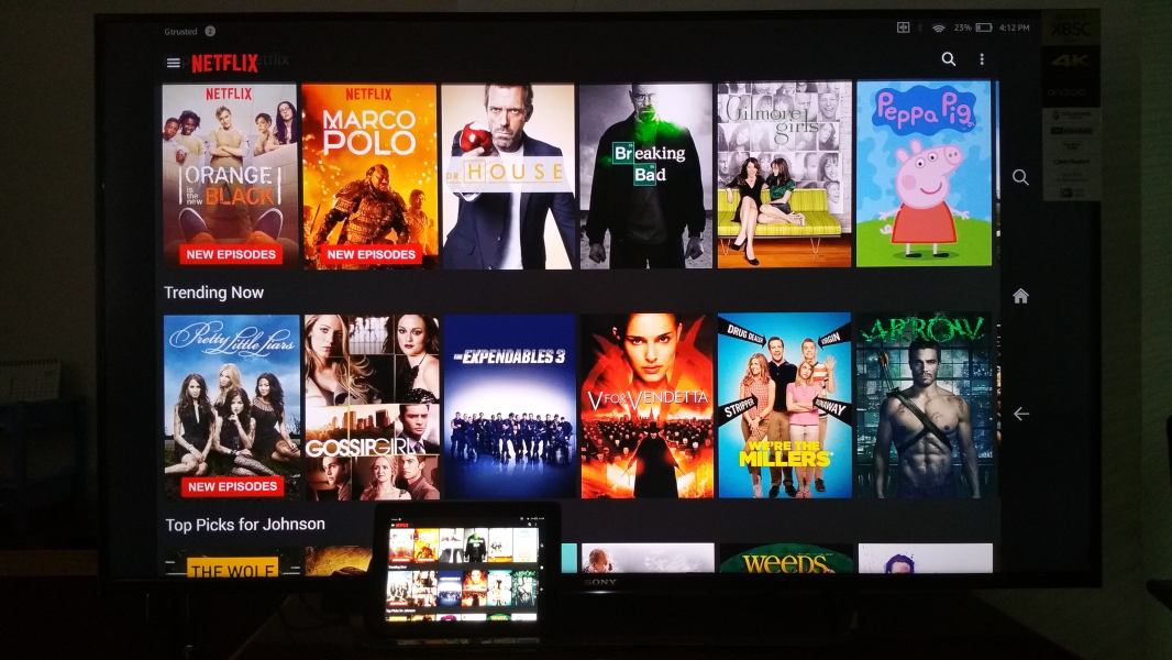 Fire HDX 8.9 by Amazon and 4K Ultra HD Smart LED TV by Sony ...