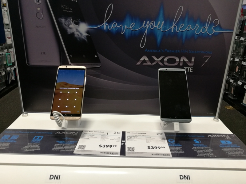 are zte zmax pro vs axon 7 publication from