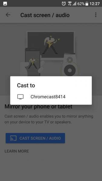 how to connect htc to chromecast