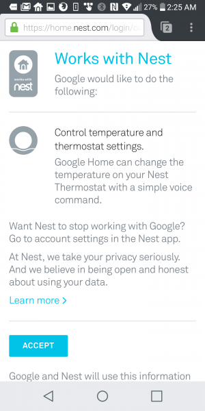 how to set up nest with google home