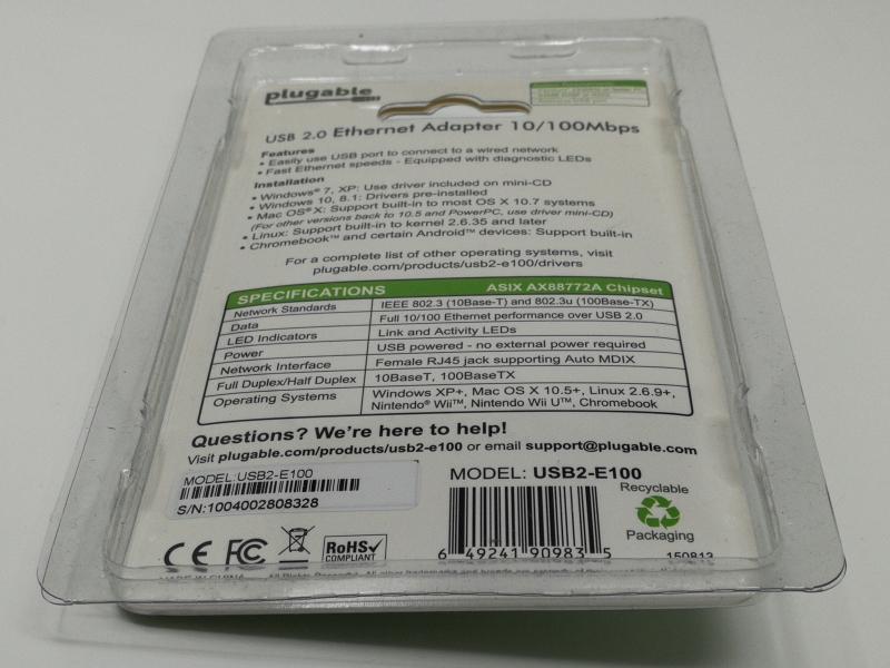 download driver usb 2 10 100 ethernet adaptor