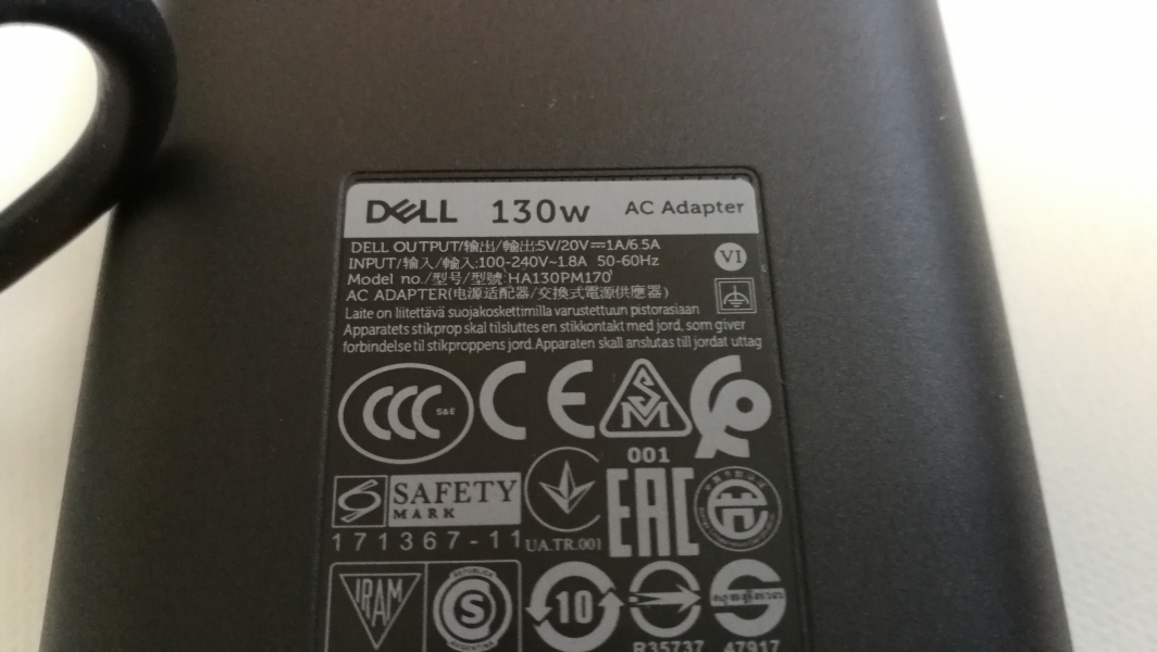 Dell 130W USB Type C AC Adapter